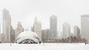The Bean (Cloud Gate). Millennium Park, Chicago. January, 2009.
