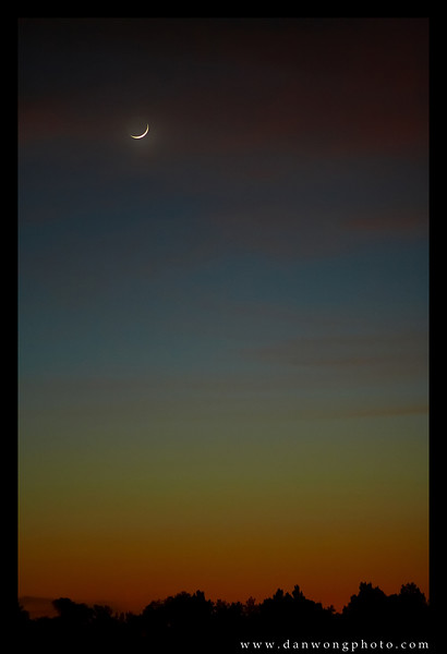 Crescent moon. Tucson, Arizona.
