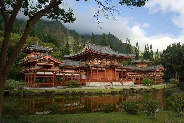 Byodo-in Temple. Oahu, Hawaii.